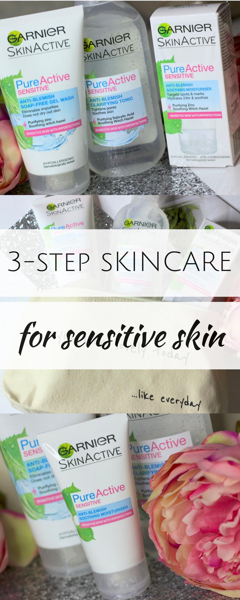 Garnier Pure Active Sensitive Range Skin Care Pinterest Anti Acne Cleansing Gel Foam 100 Ml