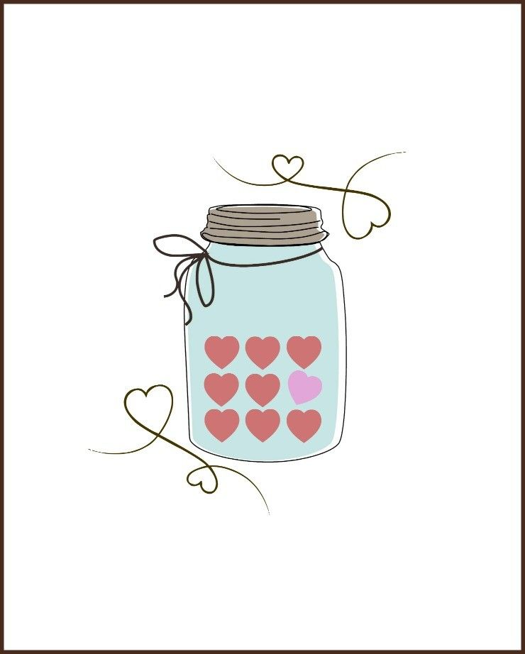 picture about Jar Printable titled Valentine Sweet Middle Mason Jar Printable Mason Jar Recommendations -