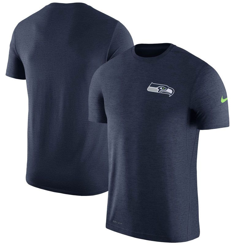 Seattle Seahawks Nike Coaches T-Shirt - College Navy