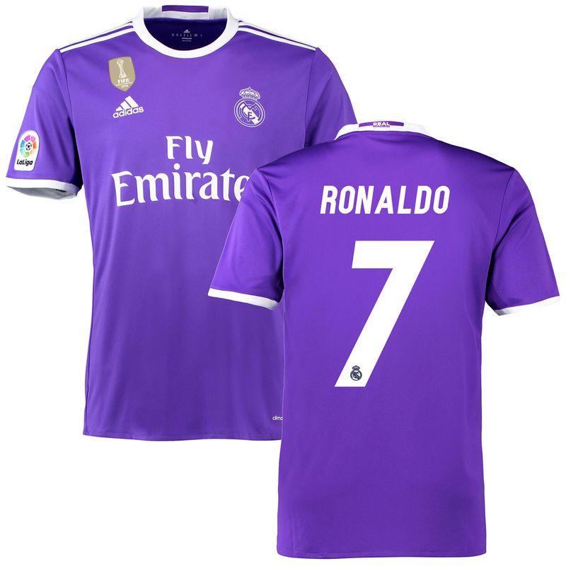 86aa78998 Ronaldo Real Madrid adidas Away FIFA World Cup Champions Patch Replica  Jersey - Purple