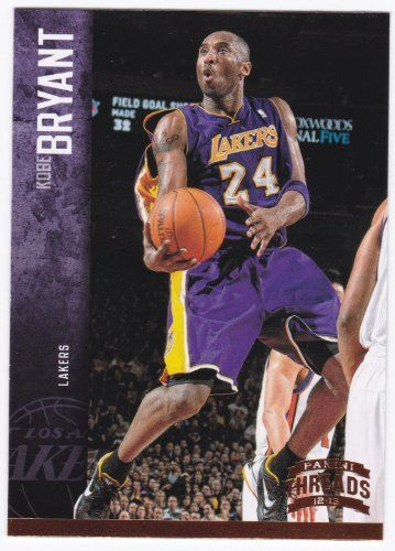 Kobe Bryant 2012 2013 Panini Threads Basketball Series Mint Card 64 Picturing Kobe In His Purple Los Angeles Lakers Jersey Lakers Store Kobe Kobe Bryant 24