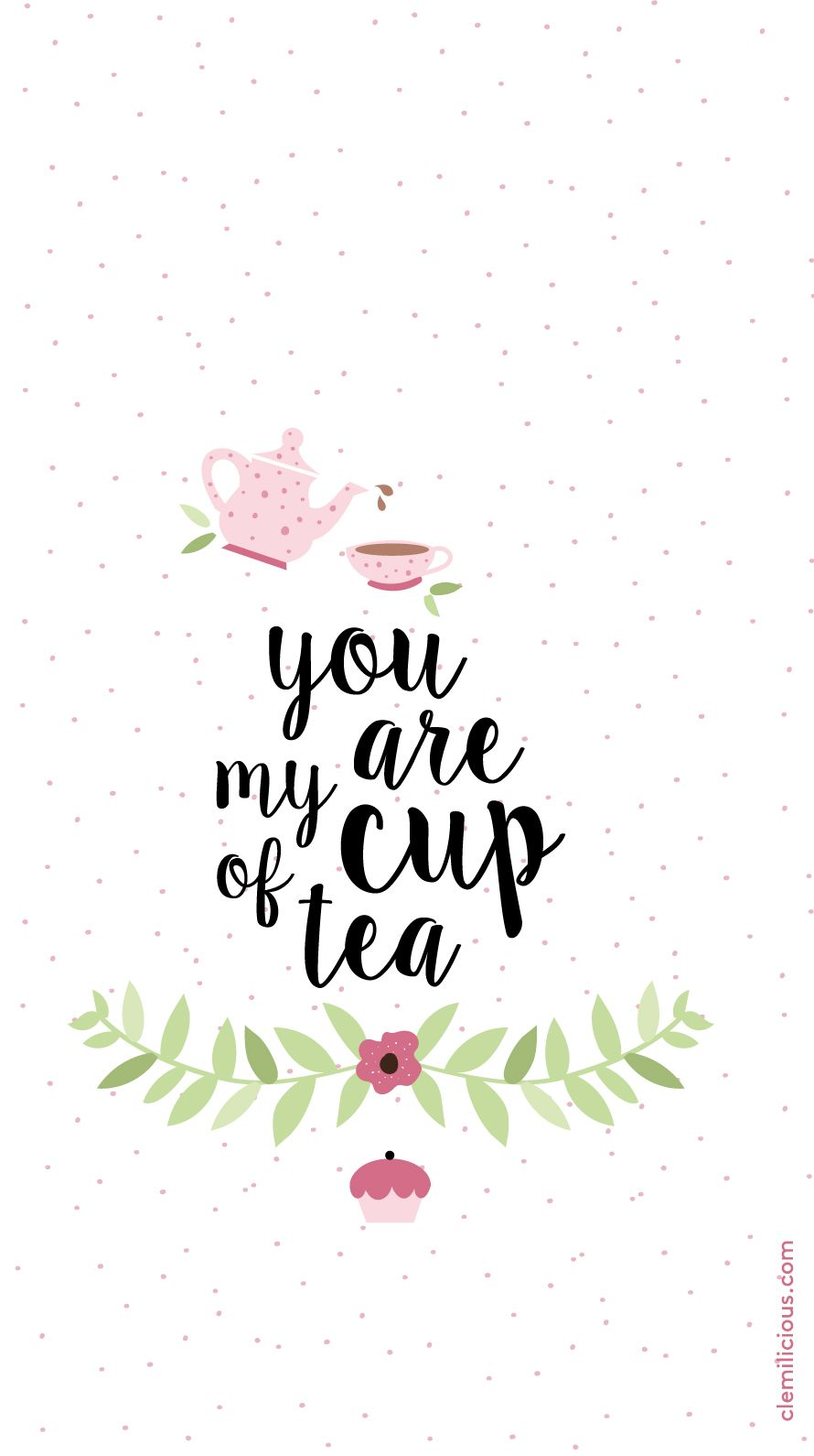 Simple Girly TeaTime IPhone Lock Screen Wallpaper PanPins