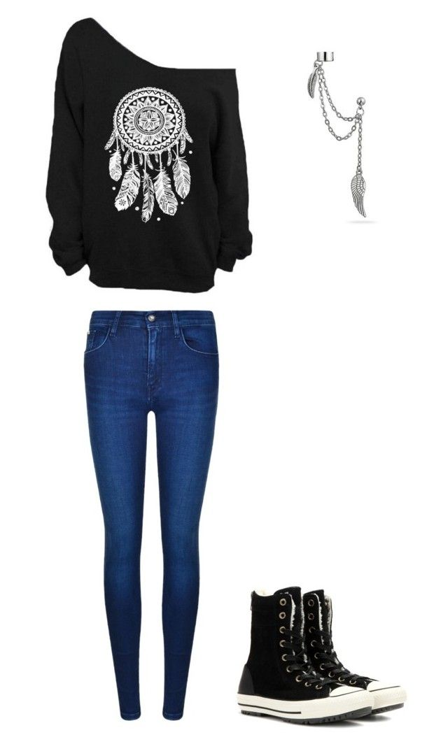"""""""Untitled #259"""" by sweet-strawberry-fairy ❤ liked on Polyvore featuring Calvin Klein, Converse and Bling Jewelry"""