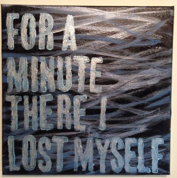 Radiohead Lyric/Quote Acrylic Painting on by FierceFlawlessDesign, $25.00 Karma Police...For a Minute There, I Lost Myself