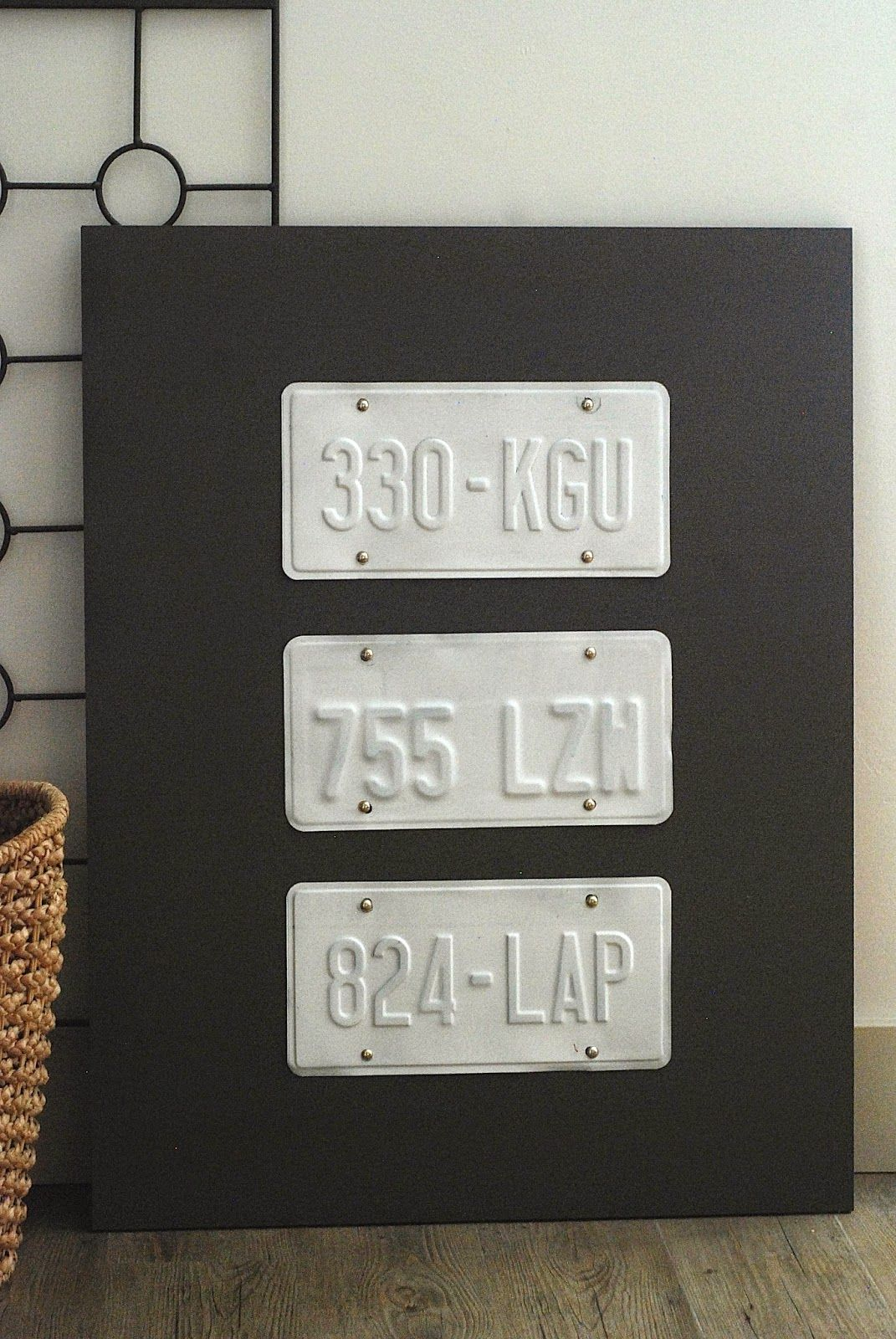 DIY License Plate Wall Art | Plate wall, License plates and Man caves