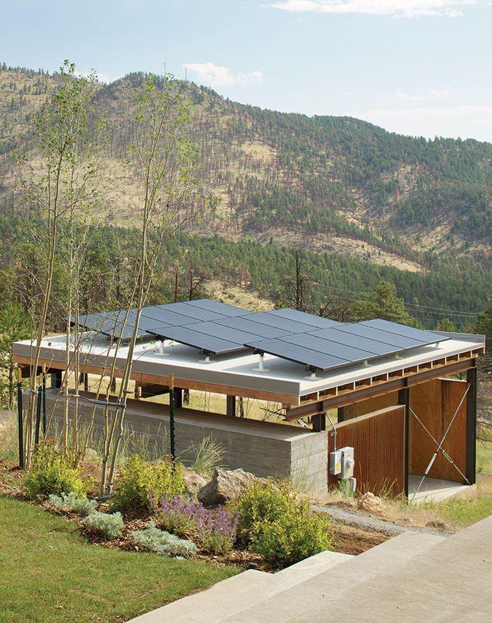 modern fire resistant green boulder solar panels