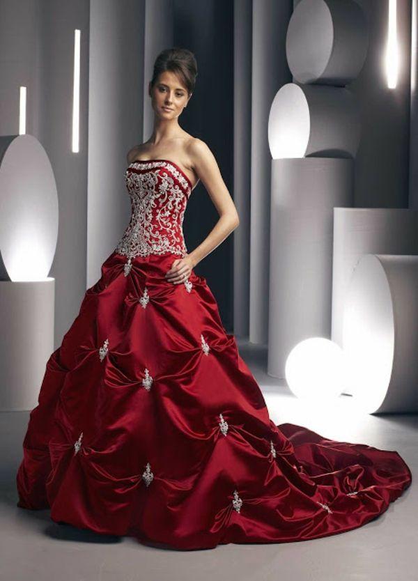 Moderne rote kleider