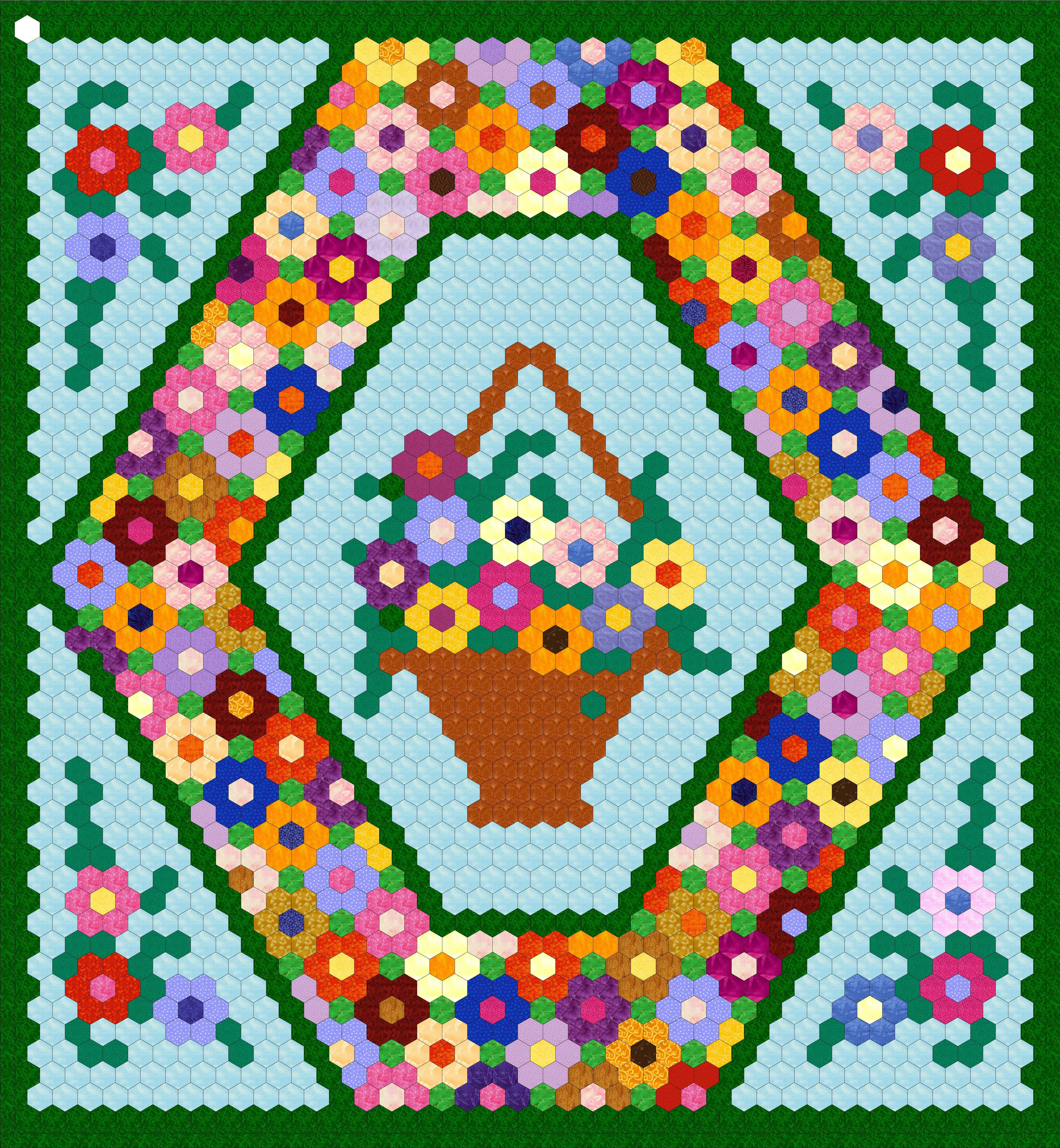 Quilting Templates Hexagon : .25 inch Hexagon Wall Hanging Project Hexagon quilting, Hexagon quilt pattern and Patterns