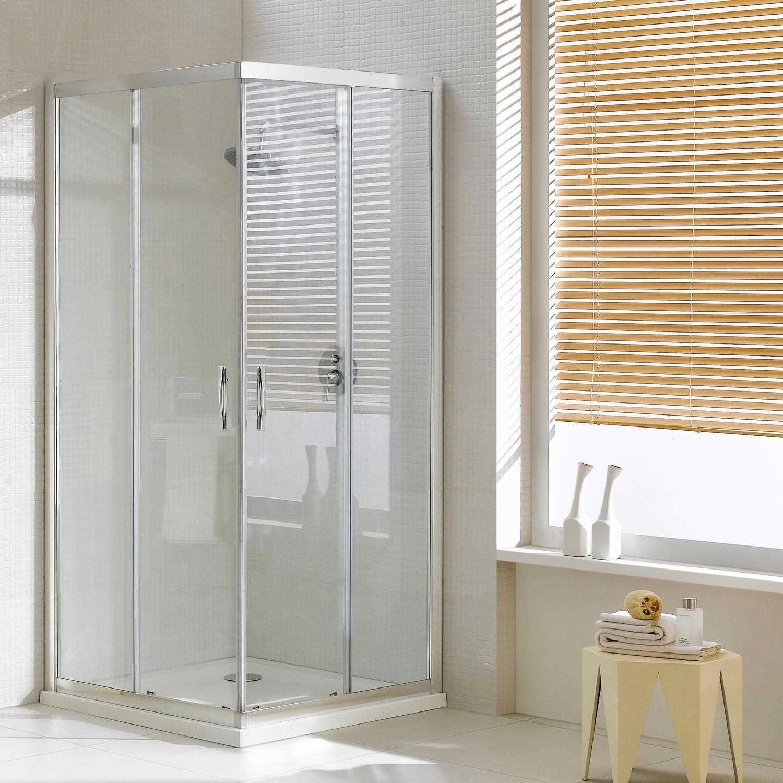 Box doccia angolare cristallo trasparente opaco H198