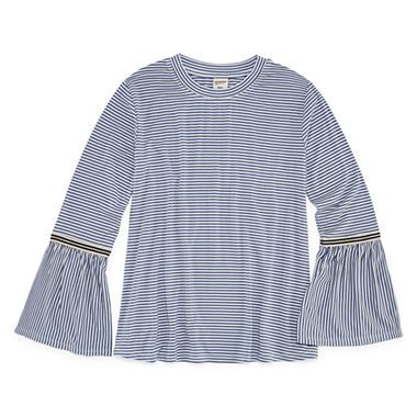 5afa2daf4ce Buy Arizona Bell-Sleeve Gingham and Stripe Fashion Top - Girls  7-16 and  Plus at JCPenney.com today and enjoy great savings.
