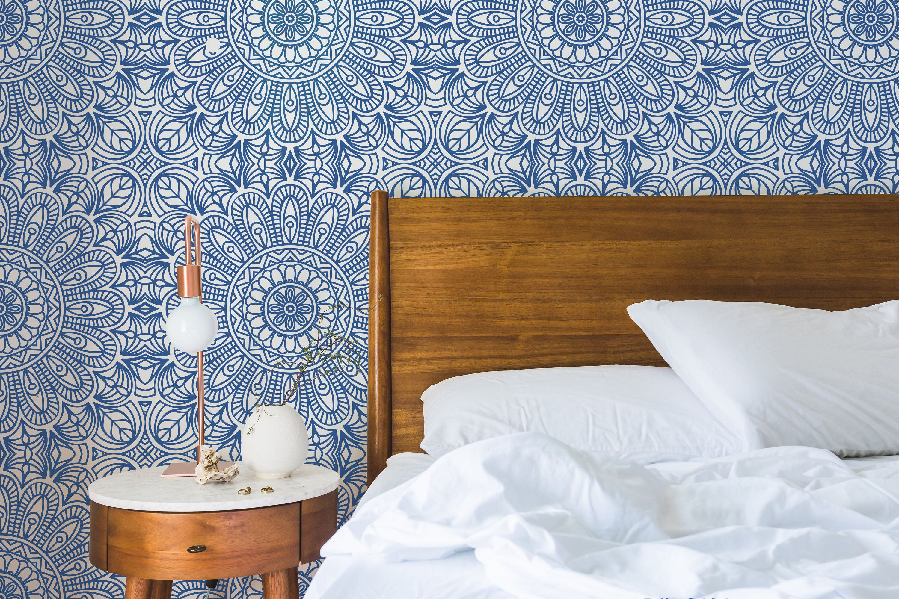 Moroccan Style Removable Wallpaper Blue Moroccan Tile Peel And Stick Wallpaper Self Adhesive Moroccan Wallpaper Vinyl Or Textile Moroccan Wallpaper Removable Wallpaper Blue Moroccan Tile