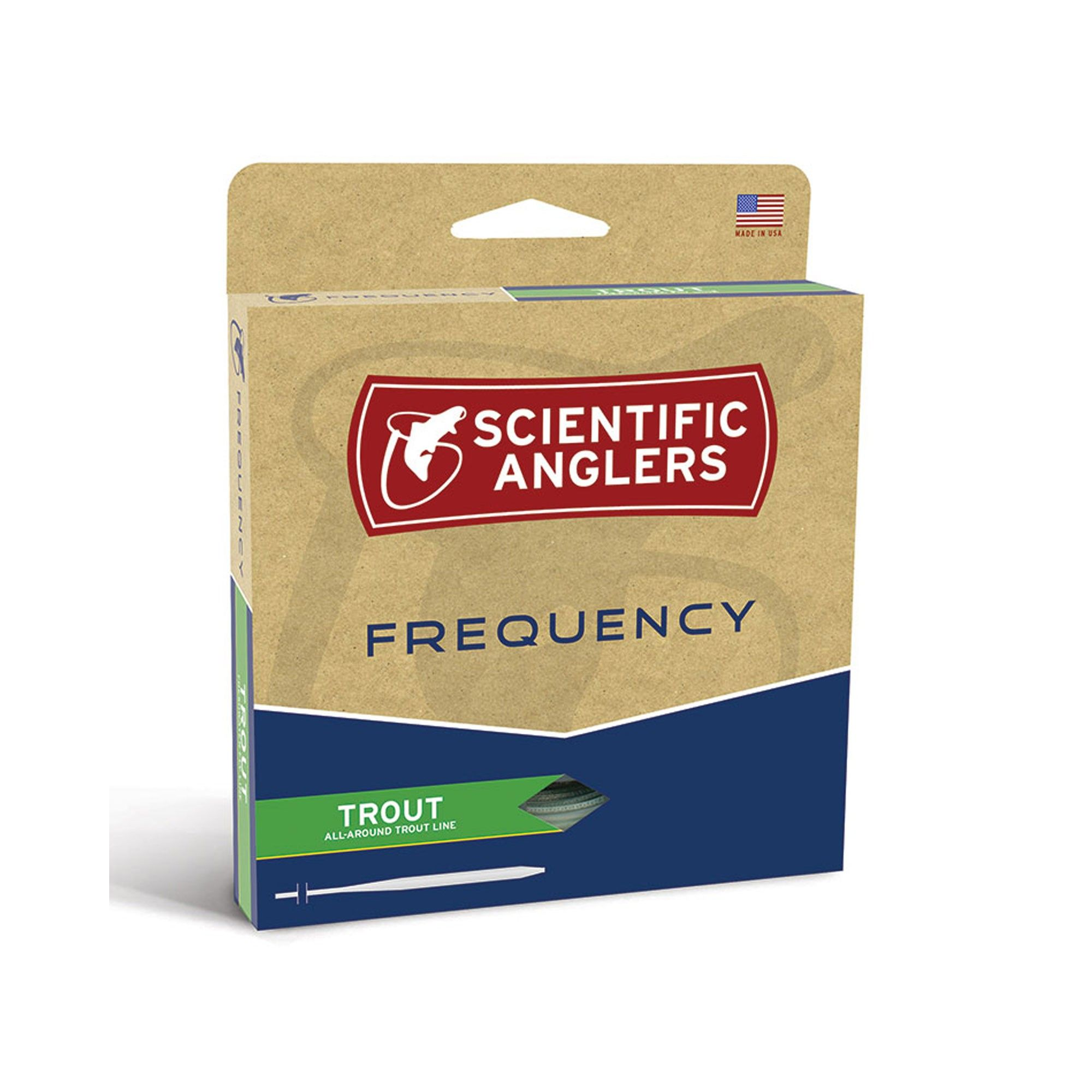 Scientific anglers frequency trout double taper fly line dtf green