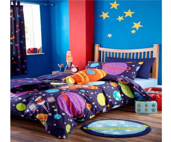 Catherine Lansfield Kids Girls Boys Tape Top Pair Fully: Outer Space Duvet Cover From Catherine Lansfield, This