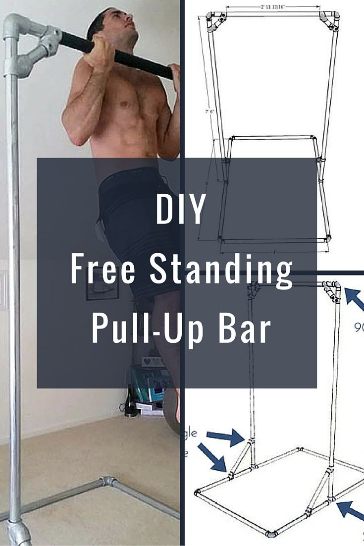 Diy free standing pull up bar perfect for the crossfit