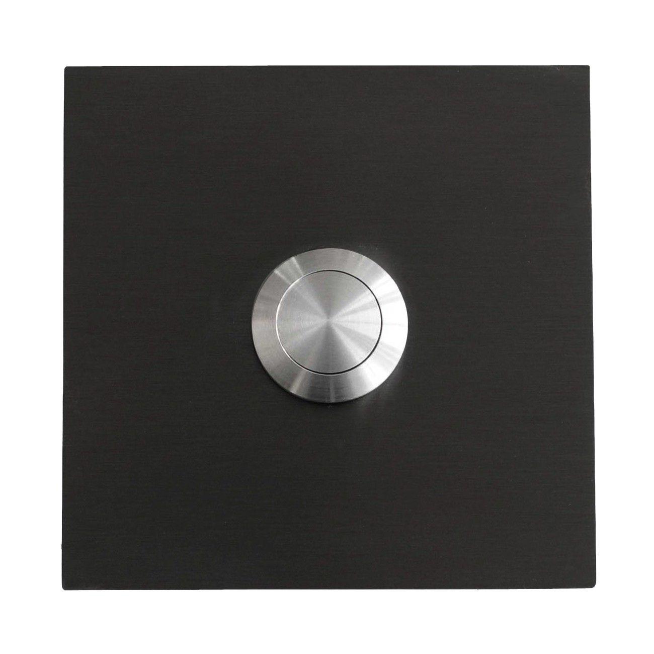 Anthrazit Klingel Edelstahl Türklingel LED-Drucktaster Quadrat m Laser-Gravur