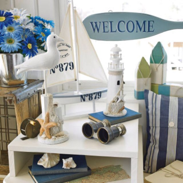 Ashland™ Coastal Collection  Lighthouse From Michaels.I Have To Get Those  Blue Daisies For My Beach Bathroom