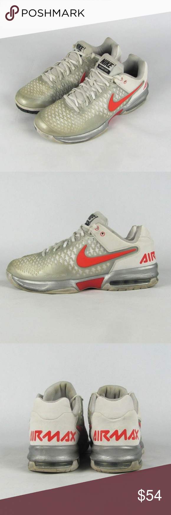 online store 33239 1d99d NIKE Air Max Cage Dragon Tennis Shoes Sneakers 9.5 The listed item is a  pair of pre-owned NIKE Air Max Cage Dragon Men s White Orange Gray Tennis  Shoes ...