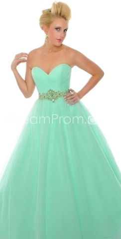 not sure how i feel about the big poofy part.   Graceful Sweetheart Floor-Length A-Line Prom Dresses
