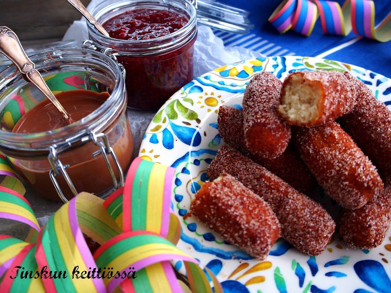 Espanjalaiset munkkitangot eli churrot viljattomasti: Tinskun keittiössä