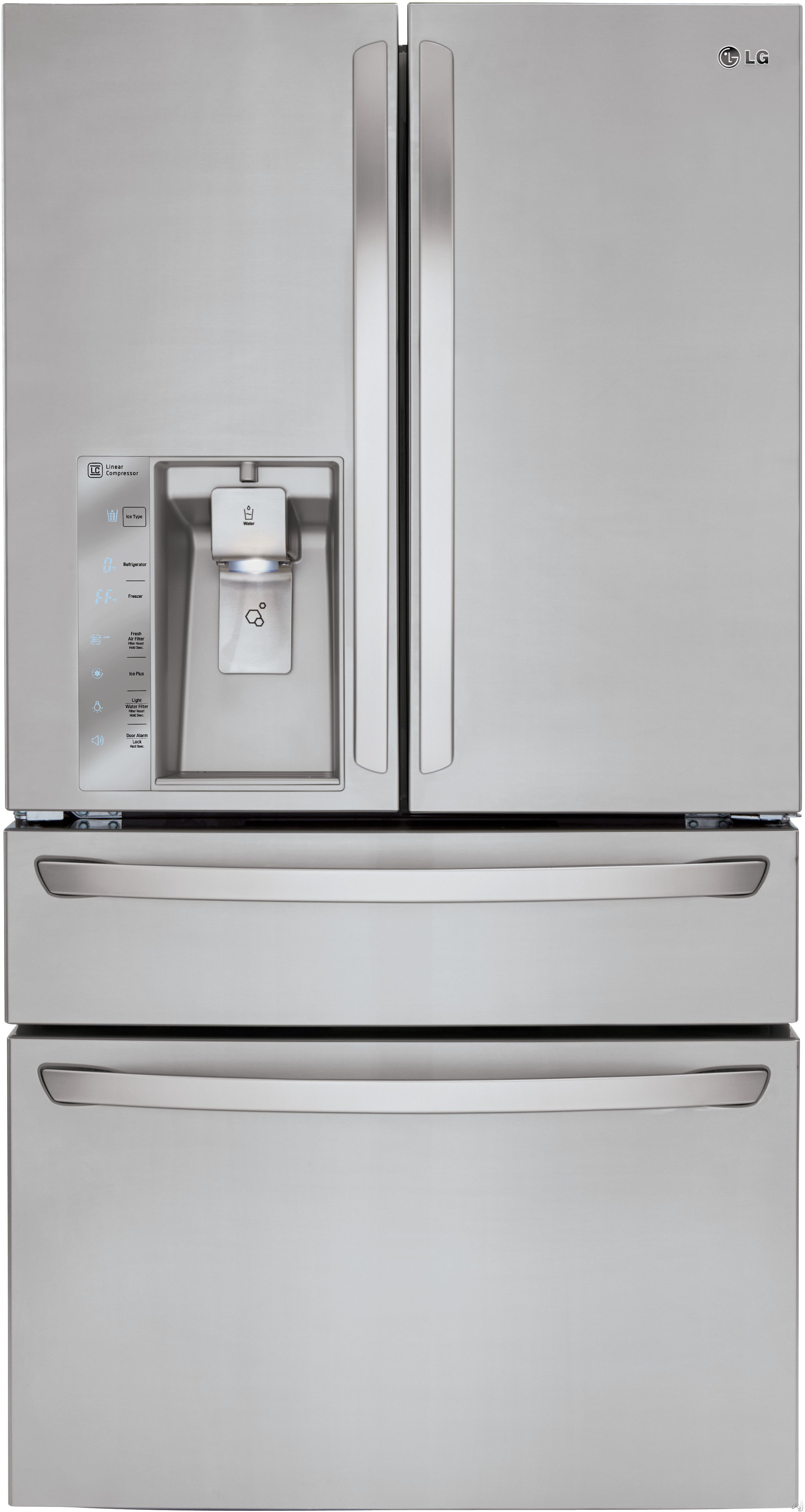 Lg Lmxc23746s 22 7 Cu Ft Counter Depth French Door Refrigerator