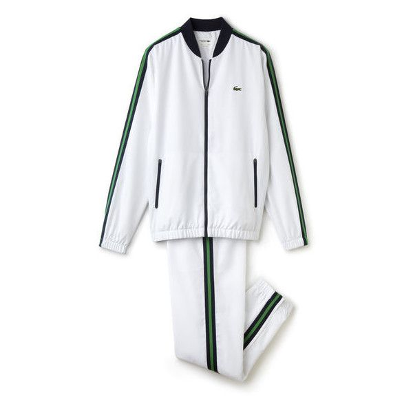 ac75bce620faf Lacoste Men s SPORT Teffeta Tennis Tracksuit with Mesh Panels ( 250) ❤  liked on Polyvore featuring men s fashion, men s clothing, men s  activewear, ...