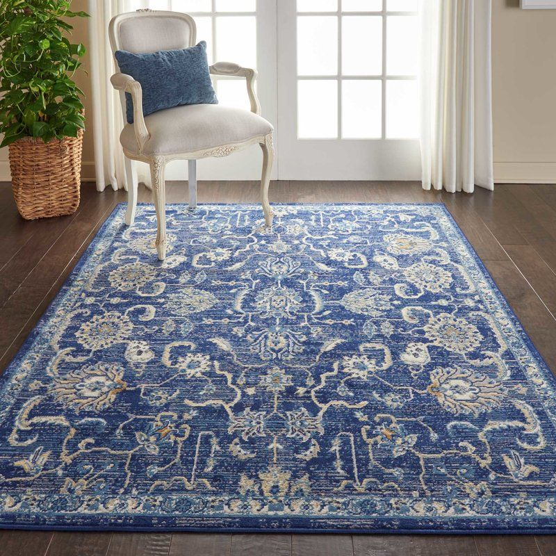 Chattahoochee Bohemian Navy Blue Area Rug With Images Area