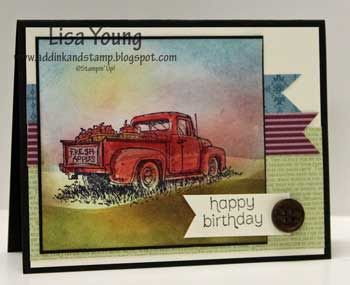 Add Ink And Stamp Birthday Pickup Truck With Images