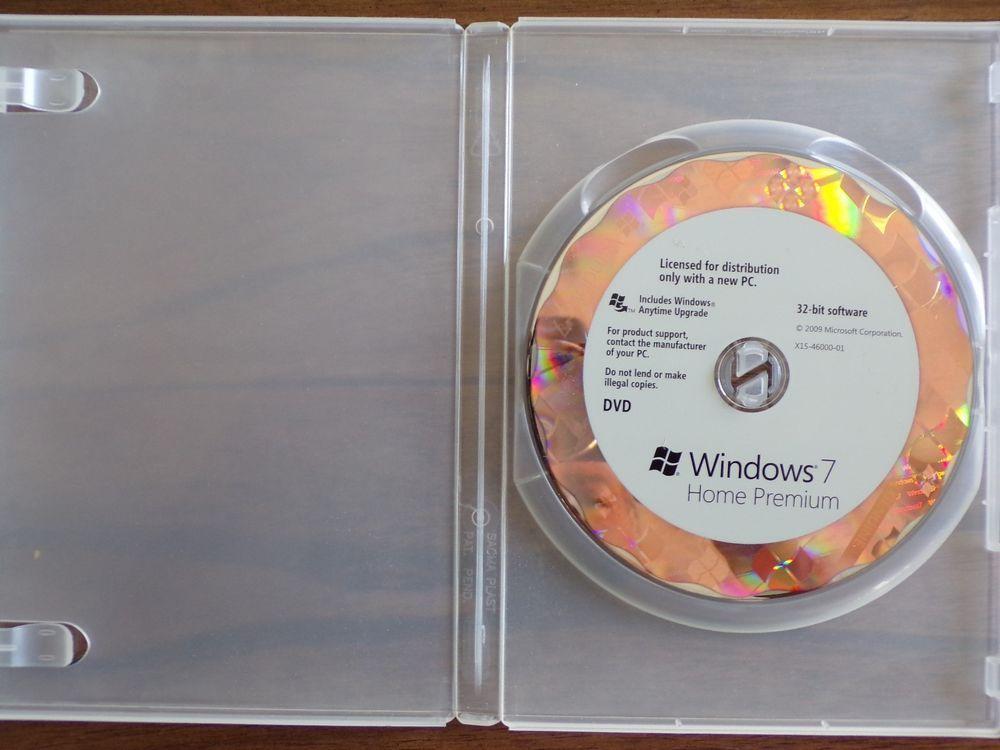 Windows 7 Home Premium 32 Bit DVD Disc INCLUDE KEYCODE