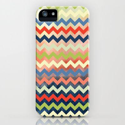 Watercolor Chevron iPhone Case by Jacqueline Maldonado - $35.00
