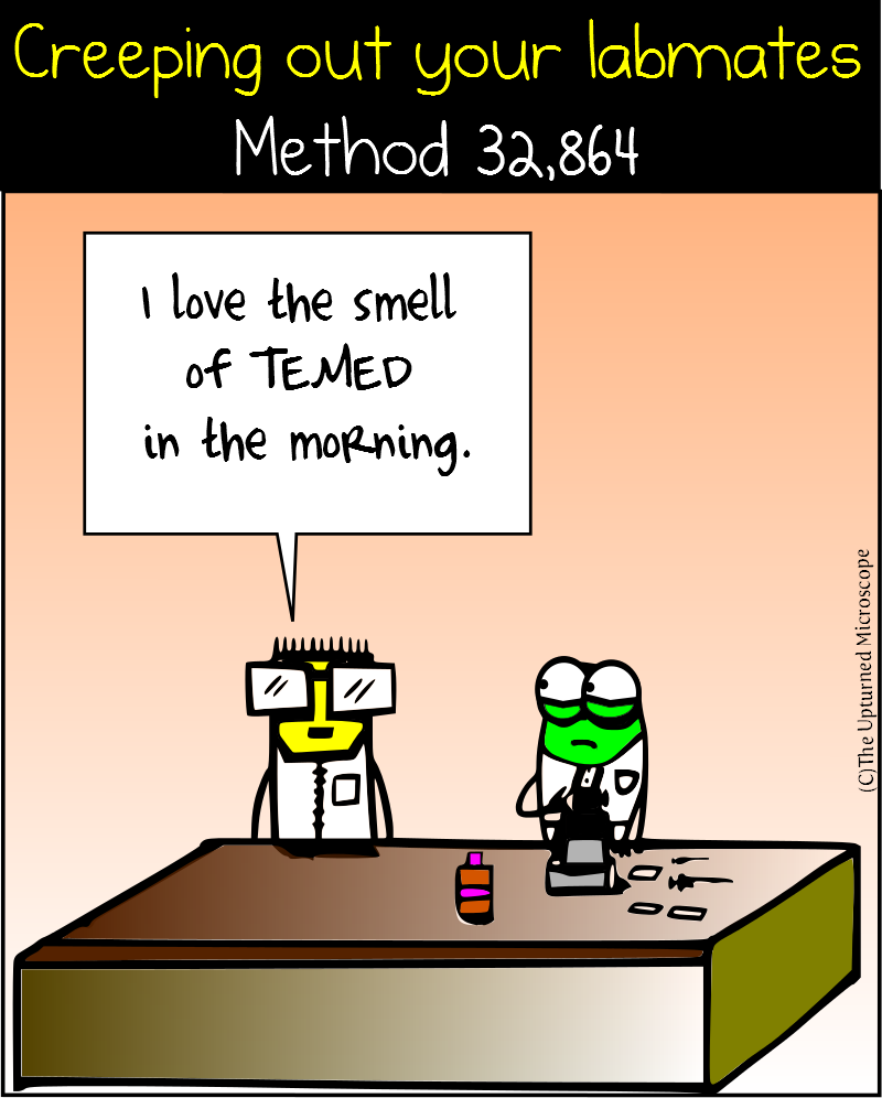 Creeping out your labmates 2