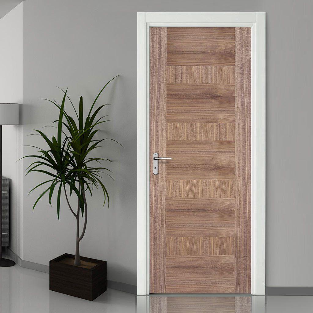 Doors. & Monaco Flush Walnut Veneer Door is Varnish Pre-Finished | Walnut ...