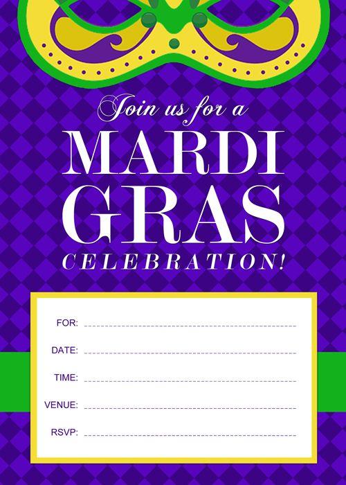 free printable mardi gras invitation by
