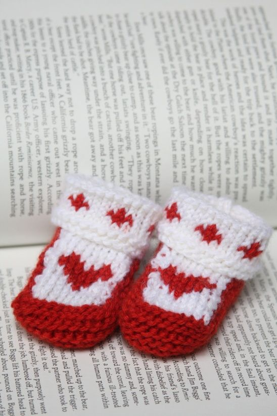 Scandi Heart Baby Booties by CreateForLess | Project | Knitting ...