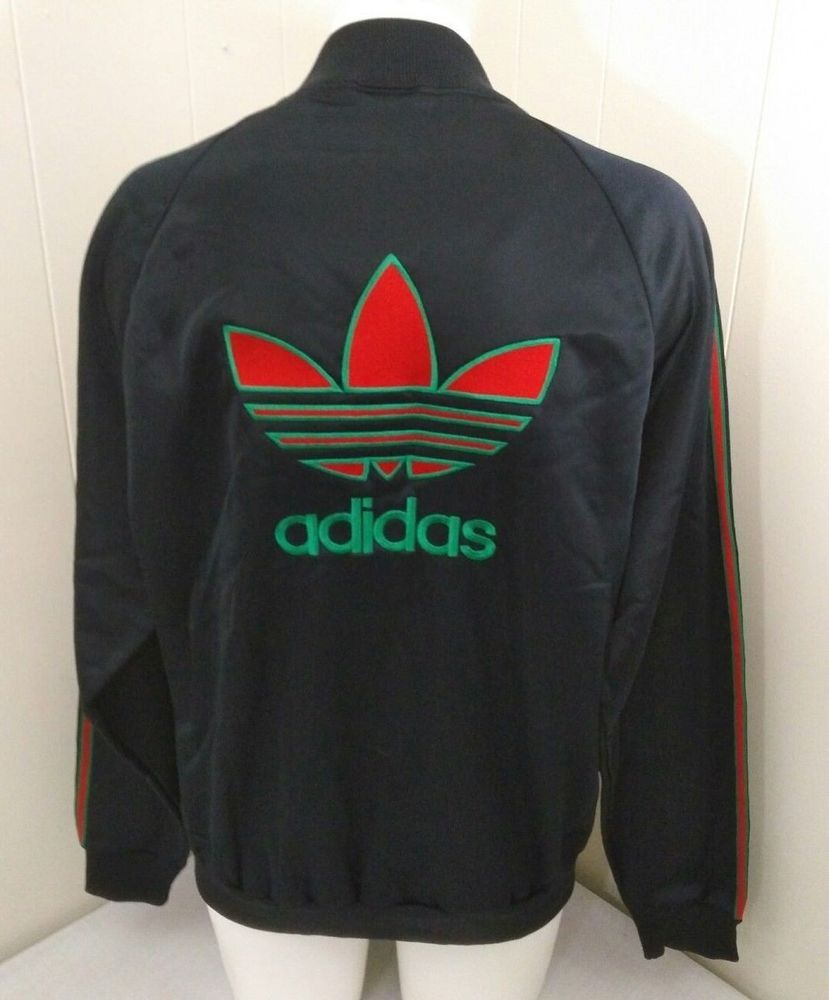 Adidas Trefoil Track Jacket Vintage 80s Dead Stock Store