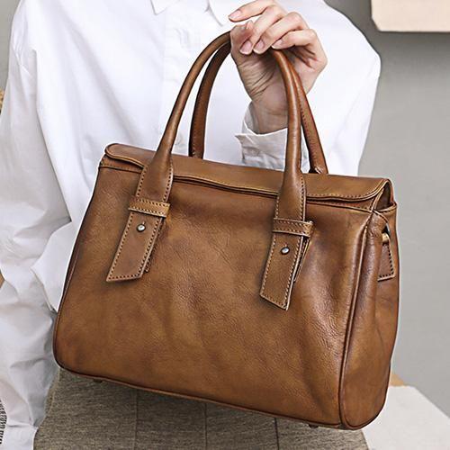 00d8f14ff199 Women Vintage Leather Doctors Bags Handle Purses – iLeatherhandbag Leather  Purses