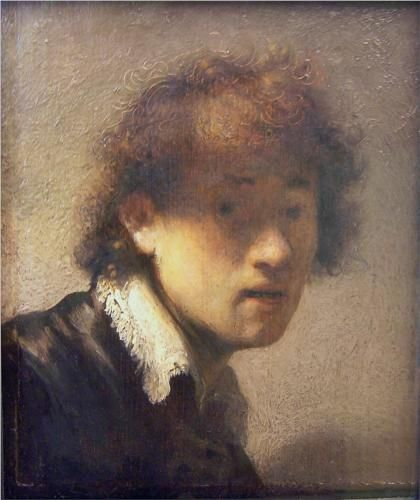 Ongekend Self-portrait at an early age - Rembrandt | Rembrandt self XI-46