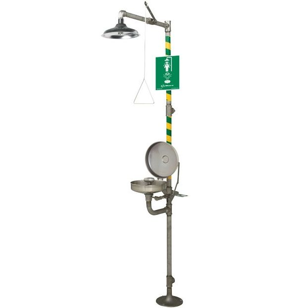 Haws 8330 Stainless Steel Combination Eyewash Station