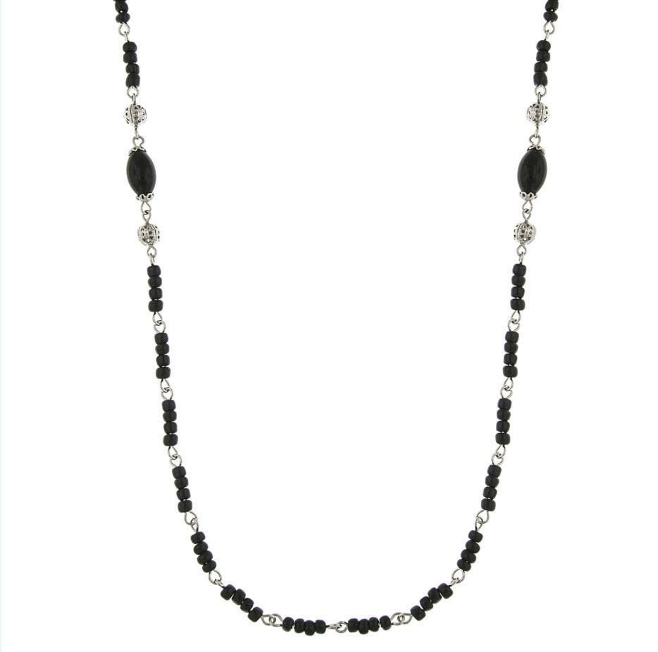 The Downton Abbey Collection Jet Black Opera Nights Necklace