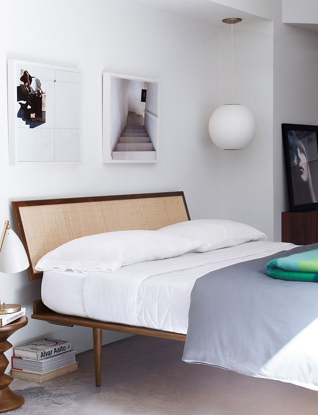 Nelson Thin Edge Bed Veneer Design, Herman Miller Bedroom Furniture