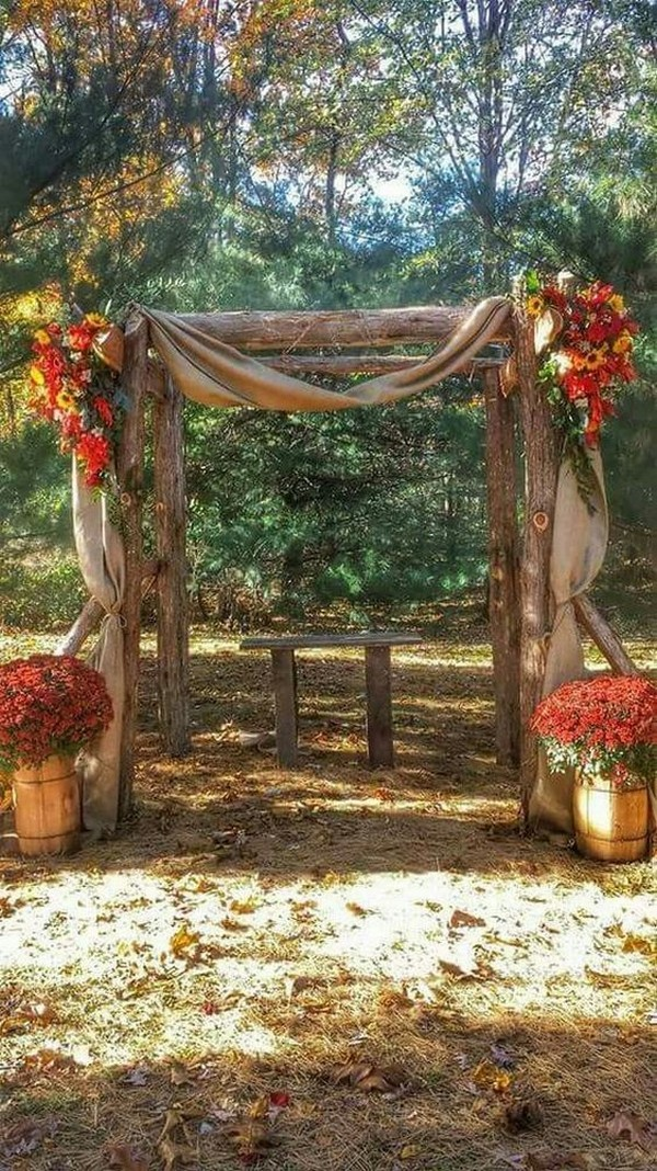 20 Amazing Outdoor Fall Wedding Arches For 2020 Trends Oh Best Day Ever Fall Wedding Arches Rustic Fall Wedding Wedding Arch Rustic