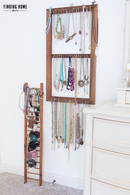 VintageDIYJewelryOrganizer organized Pinterest Diy jewelry