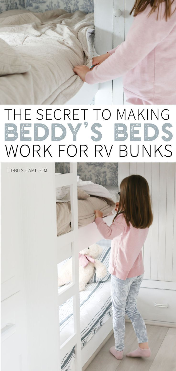 The BEST RV Bunk Bedding - Tidbits #beddysbedding