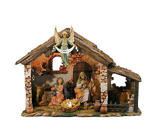 Fontanini 6 Piece Lighted Nativity Set By Roman Nativity Scene Display Nativity Set Christmas Nativity Scene