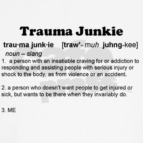 Trauma Junkie Definition Jr. Spaghetti Tank