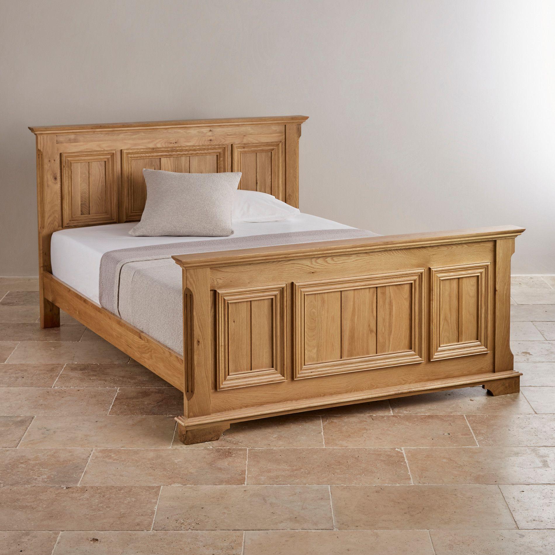 Edinburgh Natural Solid Oak 6ft Super King Size Bed Oak Bed