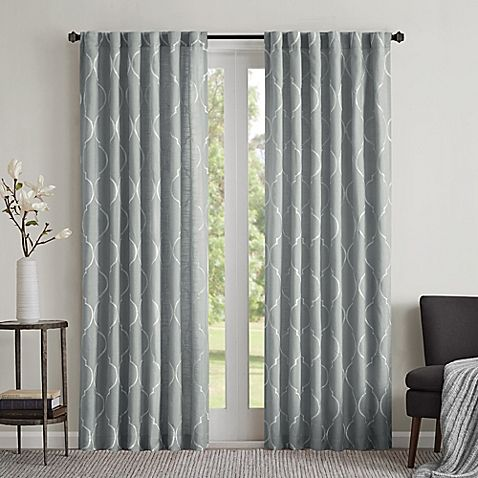 Regency Heights Lexi 95 Inch Rod Pocket Window Curtain Panel In Spa Blue Panel Curtains Curtains Home Decor