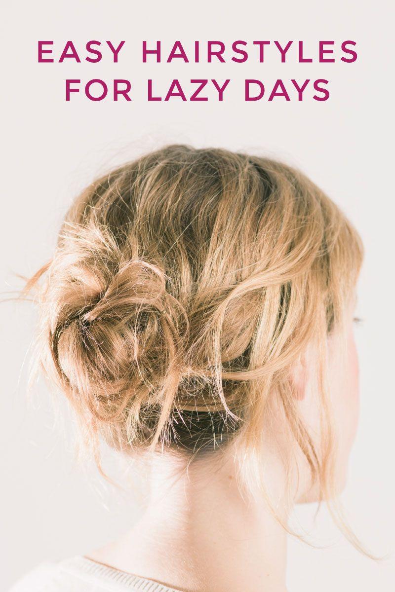 hairstyles lazy hair days easy hairfinity bad medium length messy hairstyle styles