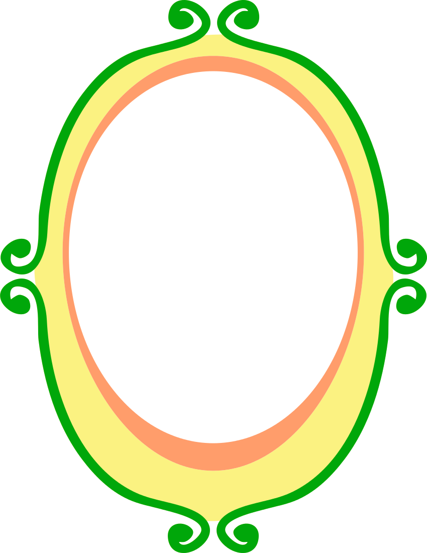 Cartoon oval frame clip art clipart library for Avery template 8695