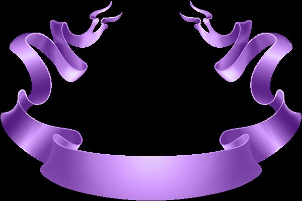 Deco Banner Purple Transparent Image Banner Clip Art Free Clip Art Purple