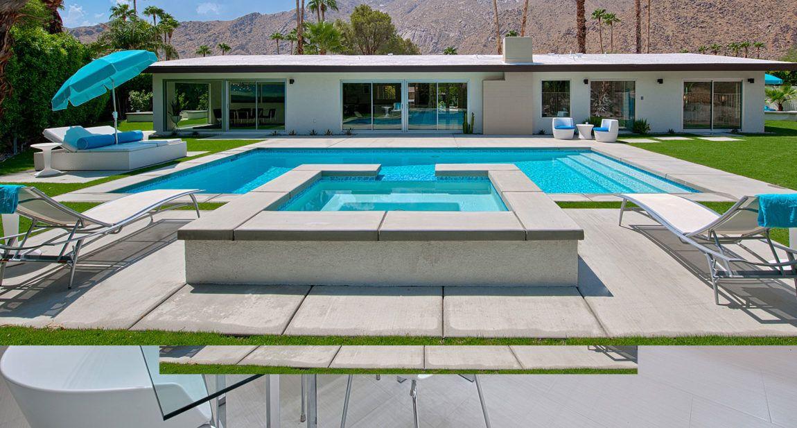 Thunderbird Heights By H3k Design 6 Stone Facade Modern Pools Design